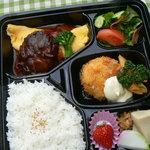 おいしい空間 菜野 - 料理写真:人気の洋食がたっぷり味わえる菜野弁当(T.O) 1280円 10個以上配達可