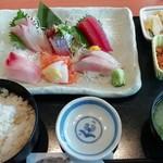 伊豆太郎 - 刺身盛合せ定食 1950円
