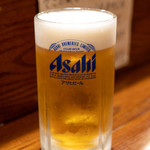 さかな工房 丸万 - 2019.10 生ビール大(900円)アサヒスーパードライ