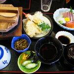 天然わかさぎ温泉いこいの館 わかさぎ - きじ釜飯定食1650円