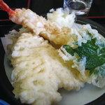 天然わかさぎ温泉いこいの館 わかさぎ - 定食の天ぷら