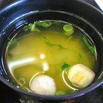 天然わかさぎ温泉いこいの館 わかさぎ - 定食の味噌汁