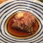 神楽坂 山せみ - 季節野菜の煮浸しは茄子でした。