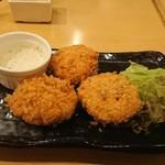 恵比寿 魚一商店 - 秋鮭とレンコンのフライ    590円