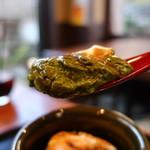 御米司ふみや - 茶壺の抹茶プリンリフトアップ