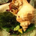 たべごと屋 ござる - 活ツブ貝と海ぶどう