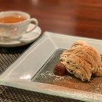 ル・コントワール・デュ・グー - 和栗の渋皮煮モンブラン、生チョコレートムース ミルクジェラート