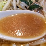 宮本太郎。 - 熱々の味噌スープ!