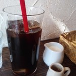 トラットリア ピチコラージョ - ドリンク写真:選べるランチパスタセット880円税込からアイスコーヒー