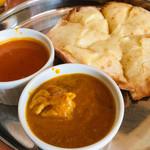 インドアジアダイニング - チキンカレー&チーズナン