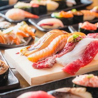 ■高級寿司ネタ50種が心ゆくまで食べ放題!!