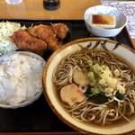 定食屋コミヤ - 料理写真:唐揚げとそば定食 920円 税込