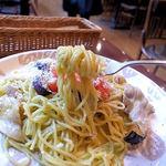 トラットリア パッキーノ - 豚肉とナスのトラパネーゼソース(大盛り)