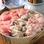 貝と魚と炉ばたのバンビ - 冬の限定メニュー名物痛風鍋