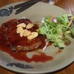 Chuugokukyoudoryourikinri - 焼き国産牛肉の特製ソースかけ