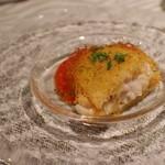 クオーレアズーロ - 鱈の白子のカダイフ