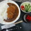 はやし亭 - 料理写真:辛口かつカレー(サラダ付き)