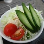 はやし亭 - 辛口かつカレー(サラダ付き)
