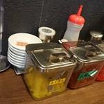 とんこつラーメン専門 八味豚骨 - 味変アイテム