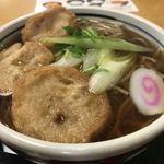 そば処 丸松 - 料理写真:朝食メニュー 仙台油麩そば(590円)