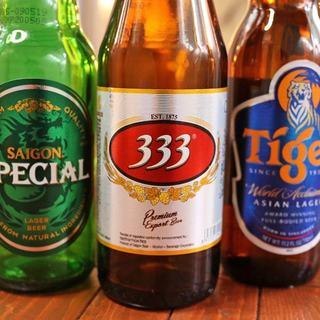 コーヒーやお茶、地ビールなどベトナムのドリンクが充実♪