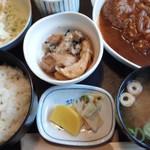 ふみや - シチューハンバーグ定食