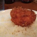 Jinkokku - ライスは別皿で。人気のカニクリームコロッケ付です(* ̄∇ ̄)ノ