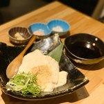 お肉にするか お魚にするか かのう - 自家製豆腐
