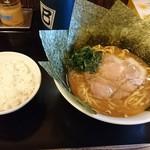 麺屋はしば - はしば麺太麺+のり+ライス小盛!(σ≧▽≦)σ