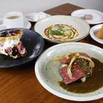 選べる前菜+魚料理+肉料理のプリフィックスコース