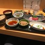 くずし割烹 天ぷら竹の庵 - 玄米ご飯と味噌汁も