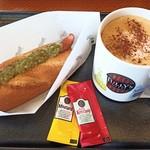 タリーズ コーヒー - ボールパークドッグ オリジナル、ソイラテ(デカフェ、エスプレッソショット追加)