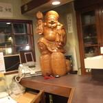 居酒屋 大黒屋 - カウンターの端は、常連の恵比寿さん