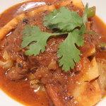 curry DELHI グルメ - 砂肝と春野菜のカレー \770 (3月のおすすめカレー)