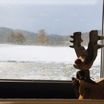 レストラン ポロ - カウンターからの雪景色
