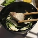 佐阿美 - 鯛の切り身も入った松茸のお吸い物。