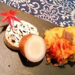 お野菜懐石&organic cafe~manaya(安曇野)~ - 24時間煮込んだゴボウが…美味!