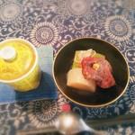 お野菜懐石&organic cafe~manaya(安曇野)~ - スープ+炊き合わせ(車麩は角煮風)