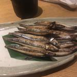 ぎんざ 阿吽 - * キビナゴ塩焼き 560円