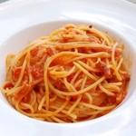 CAFE air - ベーコンと玉ねぎのトマトスパゲティ