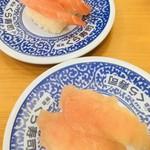 無添くら寿司 - 料理写真:熟成まぐろと熟成びんちょう(2019.11.現在)