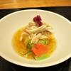 おおたに - 料理写真:先付:渡り蟹と秋茄子のゼリー寄せ。