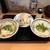 純手打ち讃岐うどん五郎 - しょうゆうどんセットにひやあつに天ぷら追加。