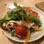 ふく竹 - 蒸し鶏サラダ明太ドレッシングがけ