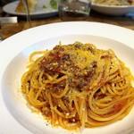 オステリアチードゥエ - ボロネーゼ。 パルミジャーノがふんだんに使われて贅沢なパスタ♫ 美味しかったです✨