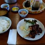 広崎食堂 - 料理写真:日替わり定食 串カツ 650円