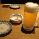 みちのく - まずは生ビール(650円)
