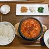 コッテジ - 料理写真:牡蠣入り豆腐チゲ 夜セット(激辛・ご飯大盛り)