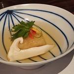 梅くら - 落花生豆腐の揚げ出しと松茸!風味よし!絶品\(^^)/