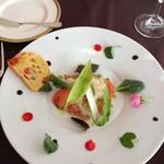 ル・タンブル - 白身魚のエスカベッシュとケークサレ 華やかでかわいらしい♪